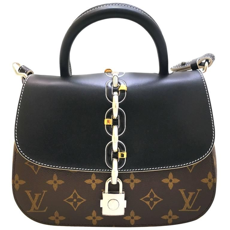 8ab59db90f629 Louis Vuitton Chain It PM Black and Brown Monogram Canvas Top Handle ...