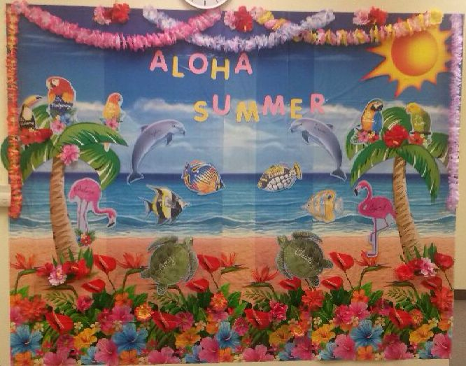 Summer Classroom Decorations Ideas ~ Aloha summer decor decoration classroom wall