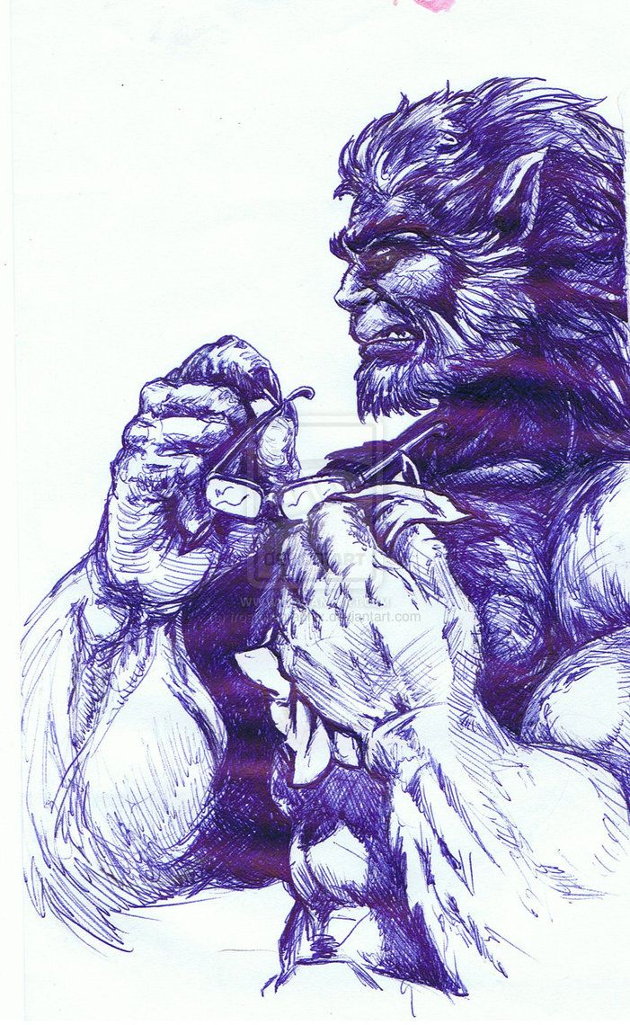Dr Henry Hank Mccoy Better Known As Beast Beast Marvel Beast Xmen Marvel Comics Art