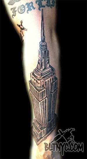 Empire state building tattoo on forearm by ny nic at body for Empire ink tattoo