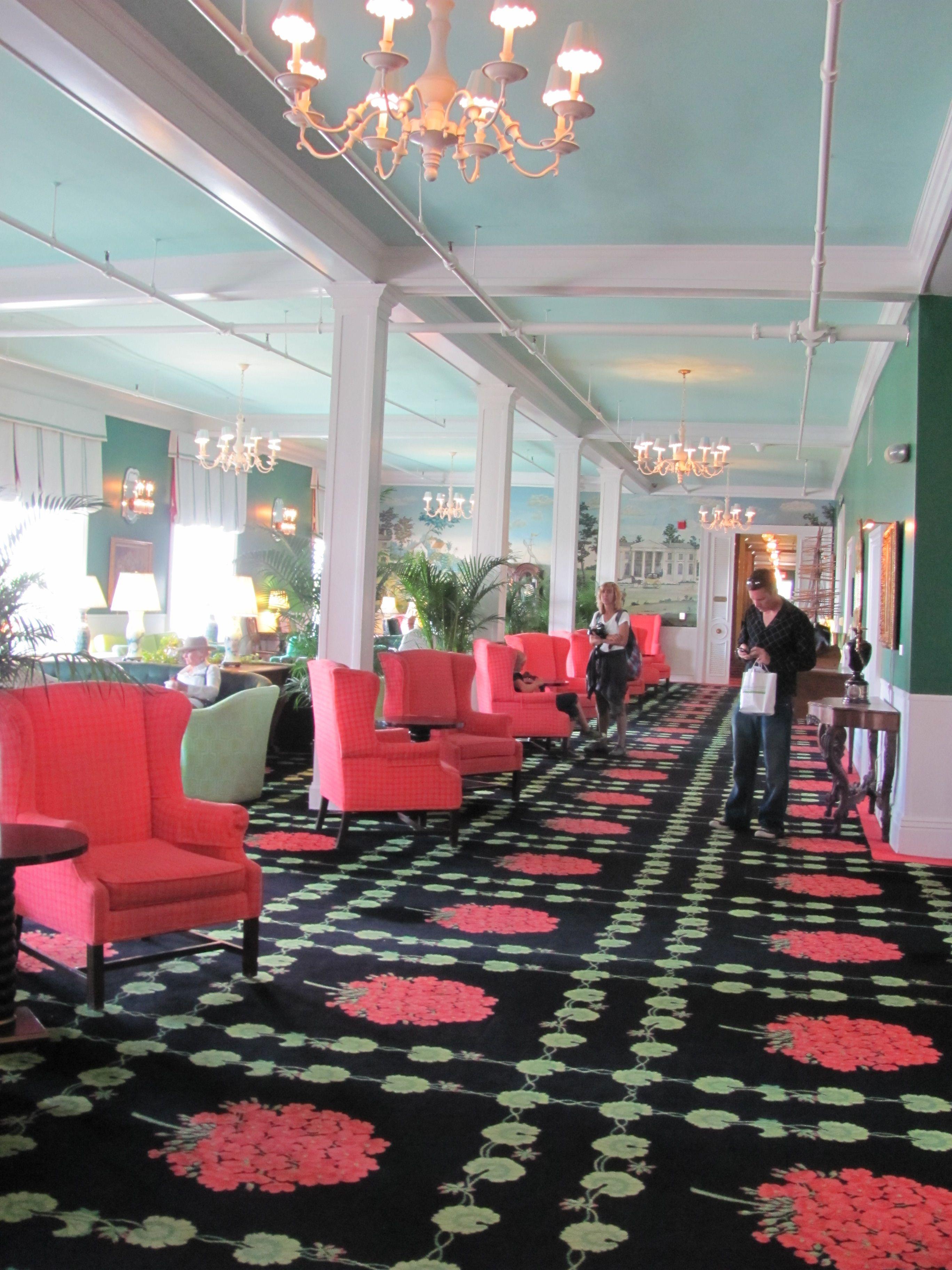 Inside The Beautiful Grand Hotel.