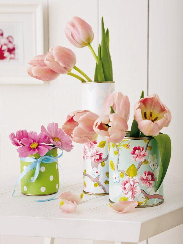 tin covered garden and flowers pinterest ostertisch. Black Bedroom Furniture Sets. Home Design Ideas