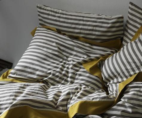 High Low Gray And Saffron Bed Linens Remodelista Dwell Studio Bedding Modern Duvet Covers Duvet Sets