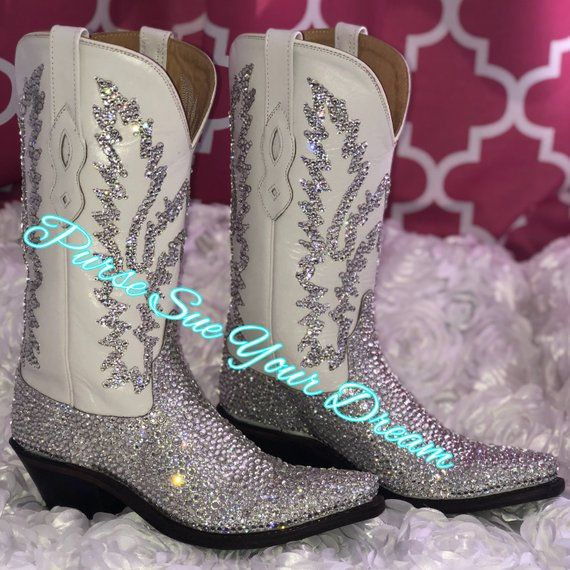 6790da9c95d Swarovski Crystals Cowboy Boots - Custom Boots - Swarovski Wedding ...