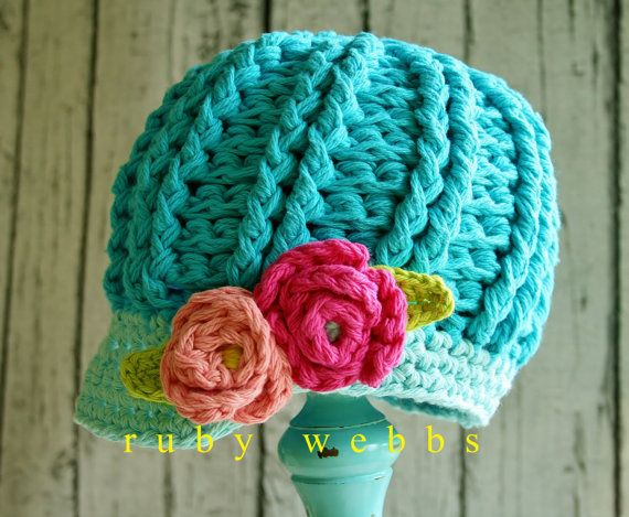 Crochet Newsboy Hat Pattern, Newsboy Hat, Crochet Pattern, 3 sizes ...