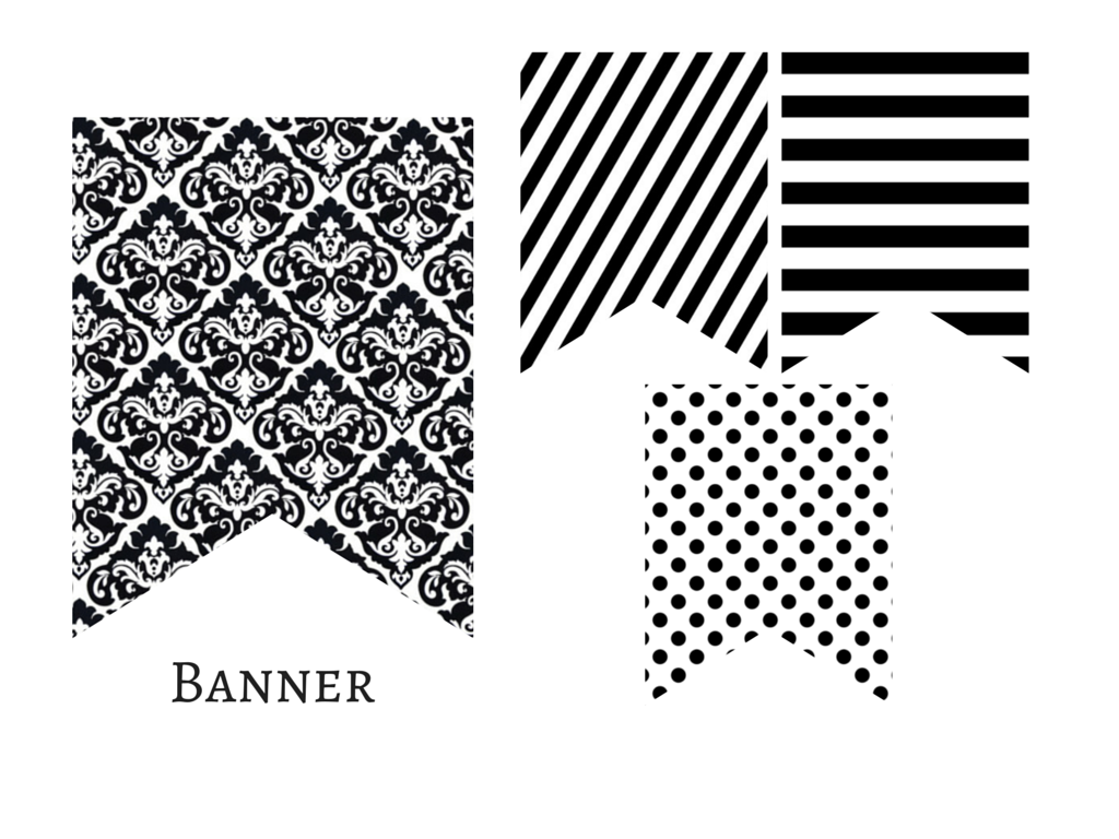 Modern Chanel Inspired Black And White Banner Magical Printable Bridal Shower Banner Bridal Shower Signs Personalized Bridal Shower Gifts