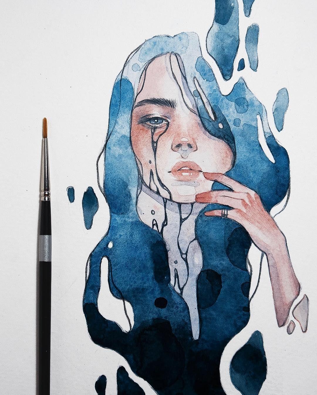 Watercolor Artist Kelogsloops Art Drawings Drawings Sketches
