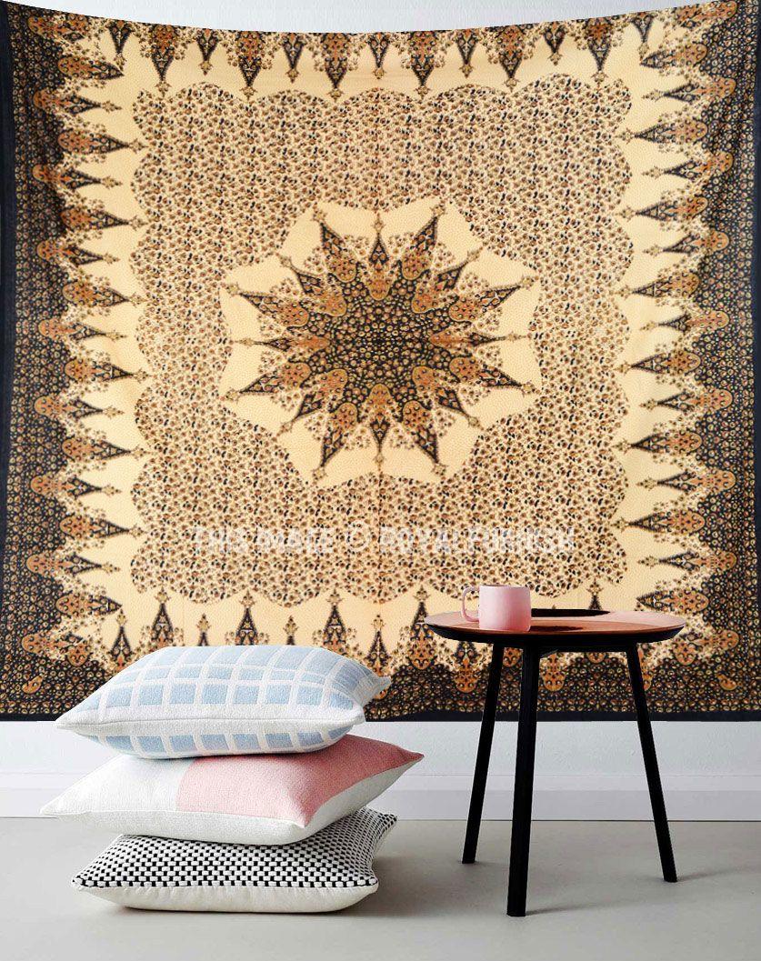 Multi Vehari Medallion Mandala Tapestry Wall Hanging, Hippie Bedding ...