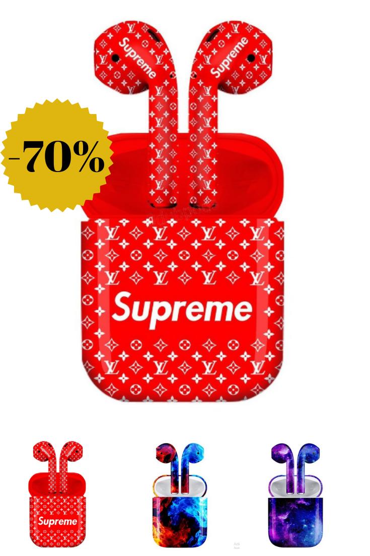 Shipping Box Includes Supreme Custom Airpods Supreme Custom