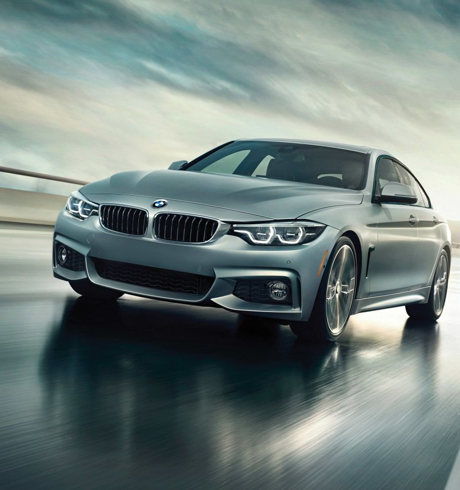 Closeup Of 2019 Bmw 4 Series Gran Coupe Focusing On Optional Icon