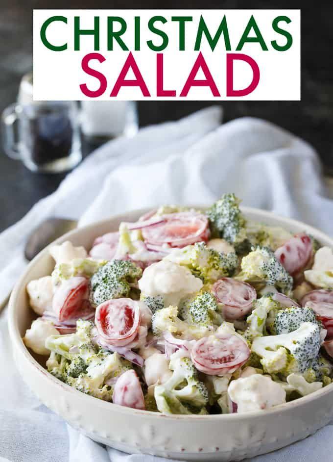 Salads For Christmas.Christmas Salad