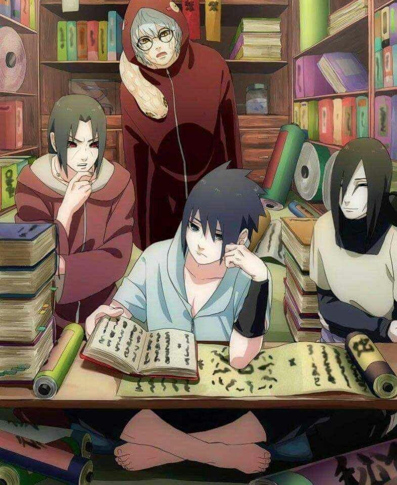Itachi, Kabuto, Sasuke & Orochimaru