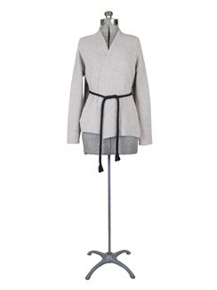 Pomandere - Knit Tie Cardi Taupe