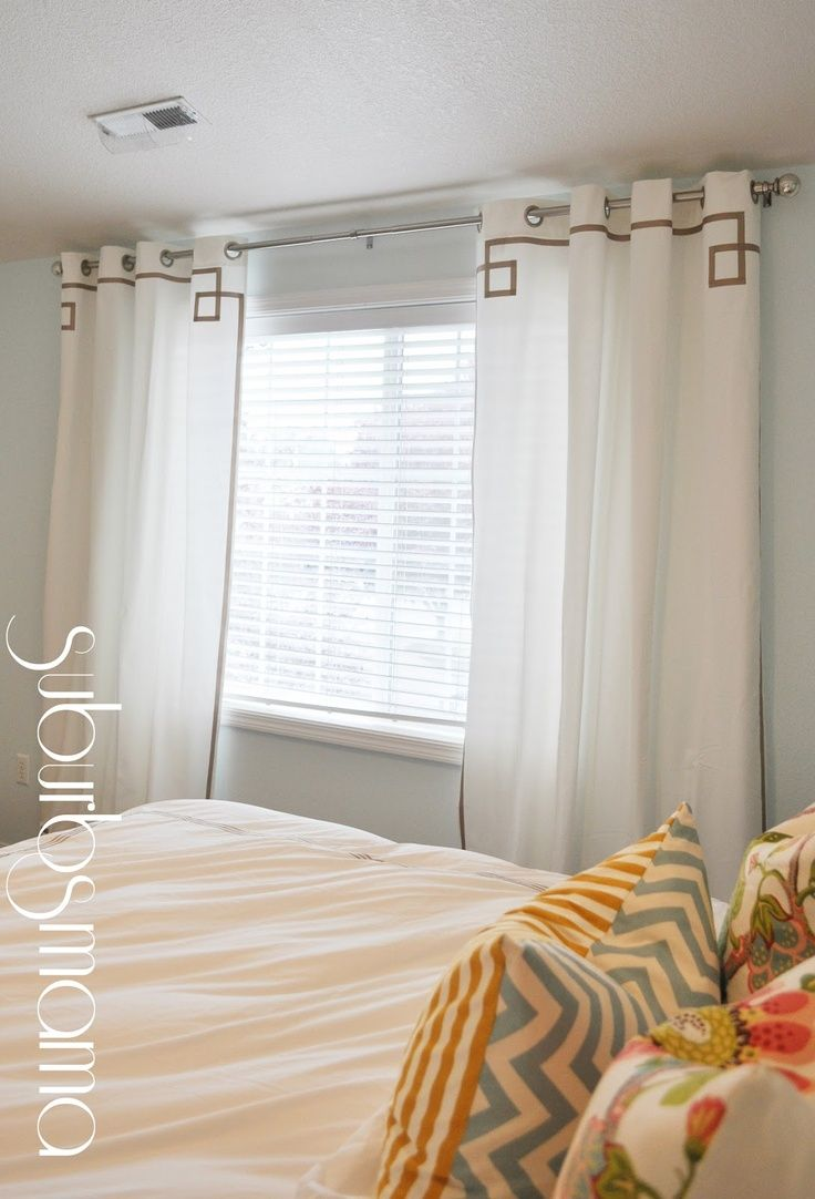 Suburbs Mama: Master Bedroom Curtains (tutorial) I Love The Cushions,  Contrasting Colour And Pattern