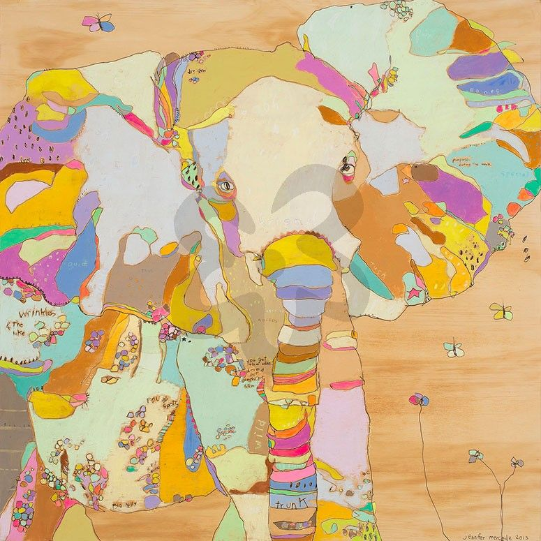 Elephunk Babe, Jungle Canvas Wall Art | Oopsy daisy | Reginia Smyth ...