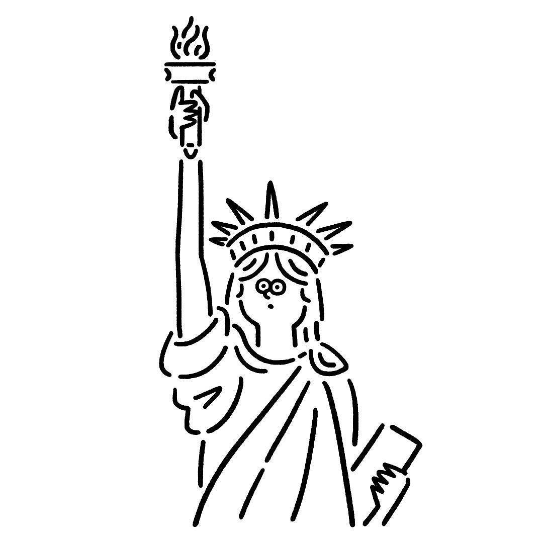 Thestatueofliberty Doodleing 自由の女神 イラスト イラストアート