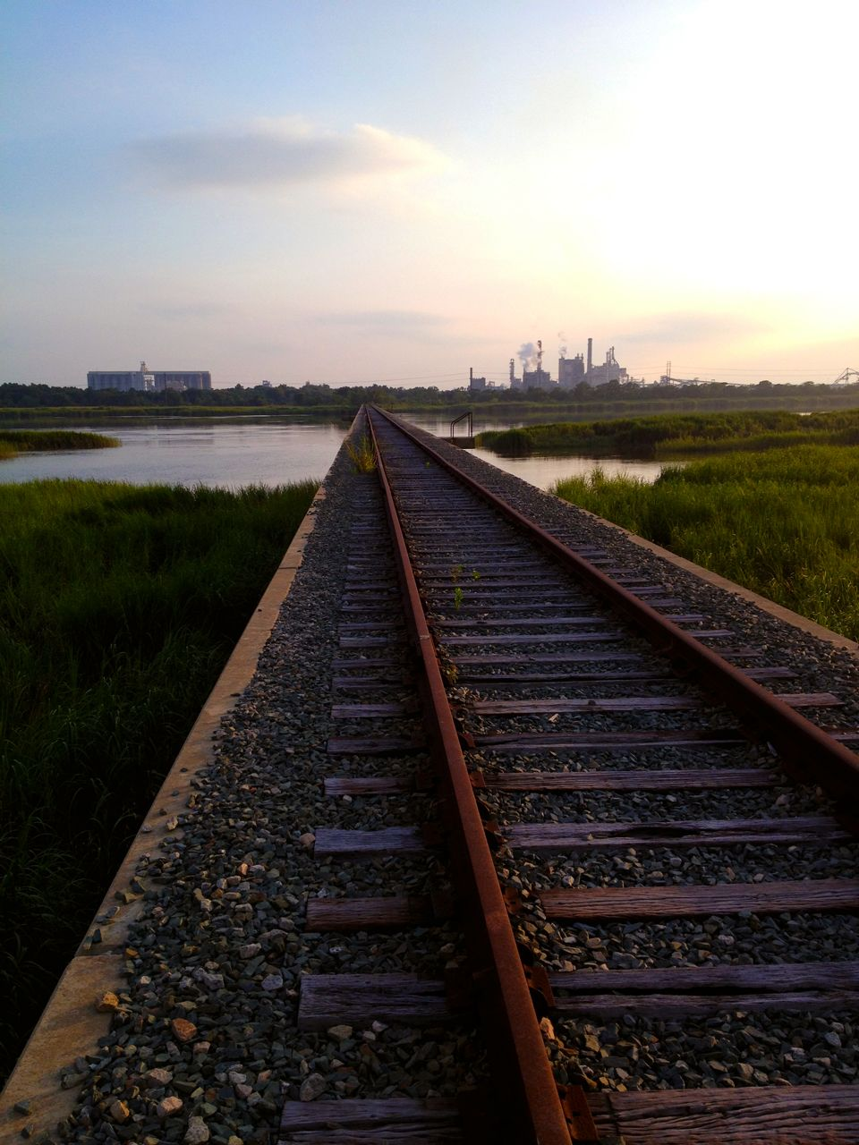 abandoned train track spanning the savannah river from hutchinson ...