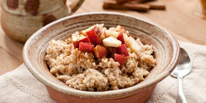 This baked apple cinnamon oatmeal - complete with just a touch of honey - is a great way to start a fall day. Nutritional Information (per serving): Calori