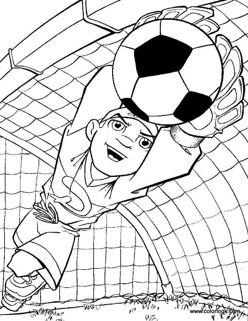 Goalkeeper coloring page Sports coloring pages, Football