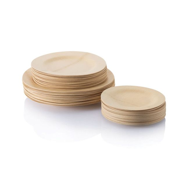 Bambu Veneerware® Disposable Bamboo Round Plates  sc 1 st  Pinterest & All Occasion Veneerware® Bamboo Plates Round | Wedding Weddings ...