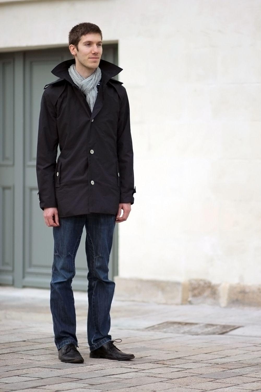 Patron manteau de pluie femme