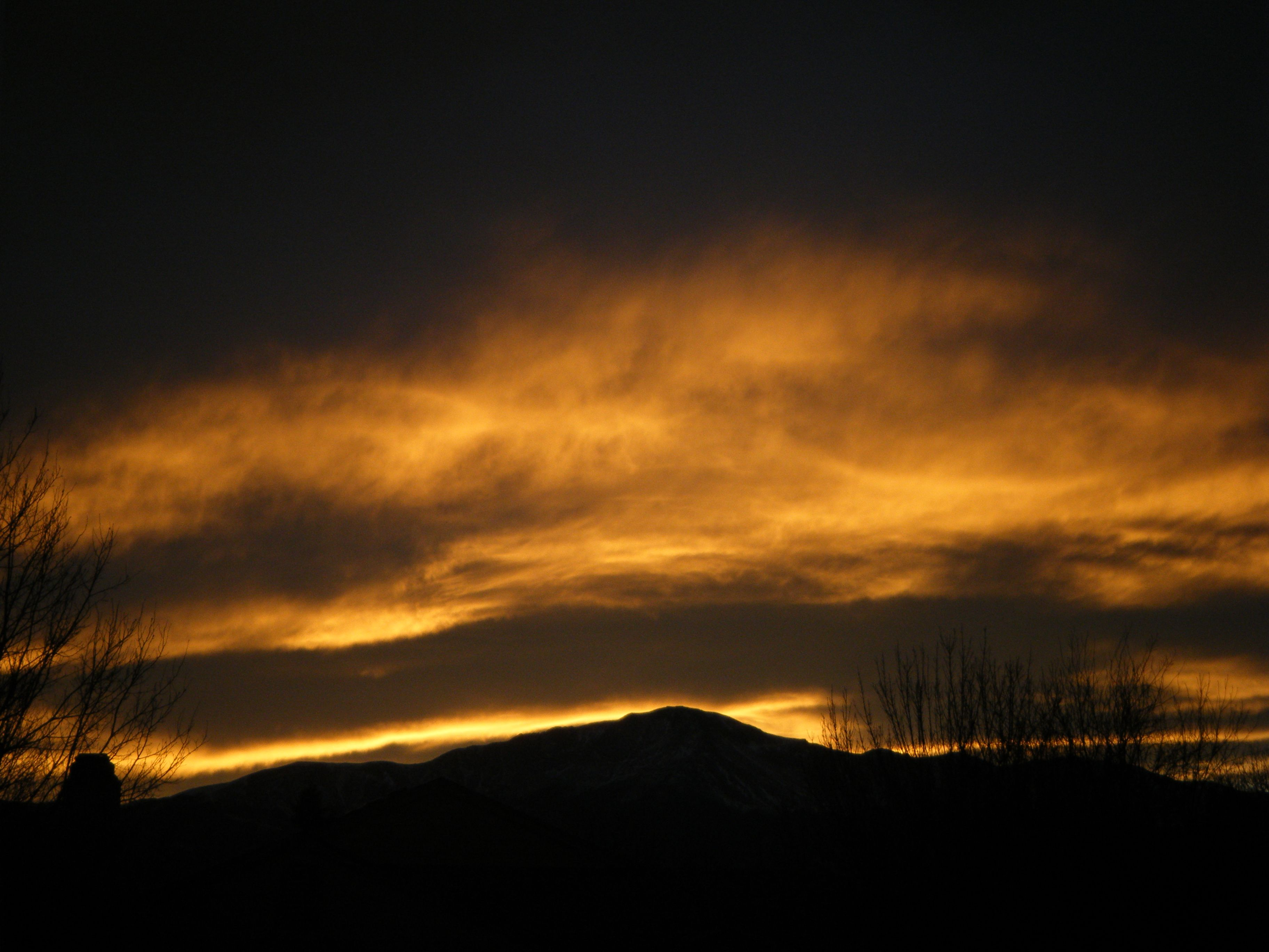 Another sunset from my home in Co springs