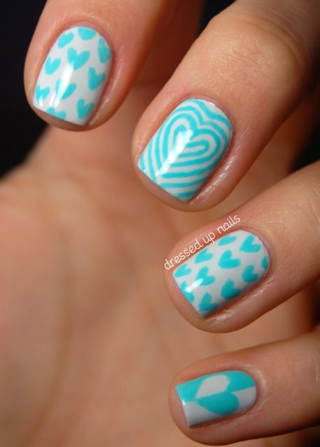 turquoise nail design #nails