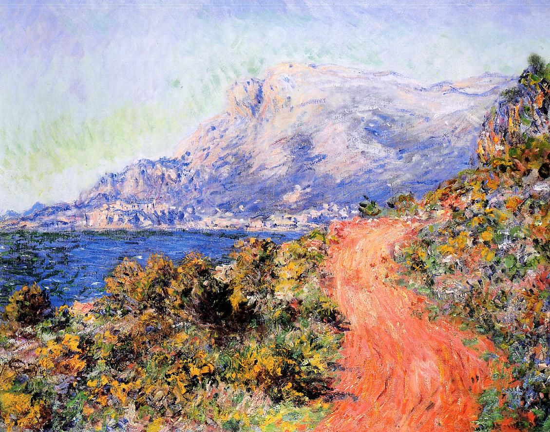 Claude Monet (1840-1926) - The Red Road near Menton - 1884 - Private collection