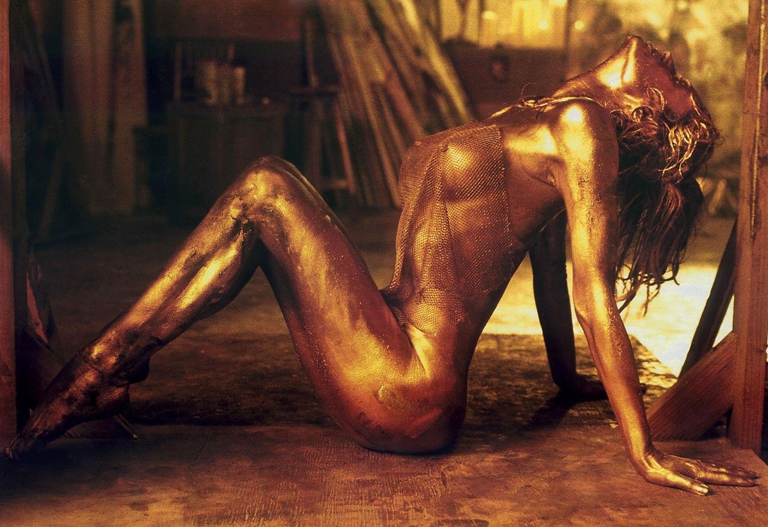 Farrah Fawcett Gold Nude | Farrah Fawcett Nude | Gilded Gold ...