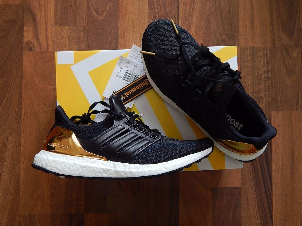 promo code 8c035 7fde0 ADIDAS ULTRA BOOST BLACK OLYMPIC GOLD MEDAL PACK UK6 US6.5 BRAND NEW  PRIMEKNIT…