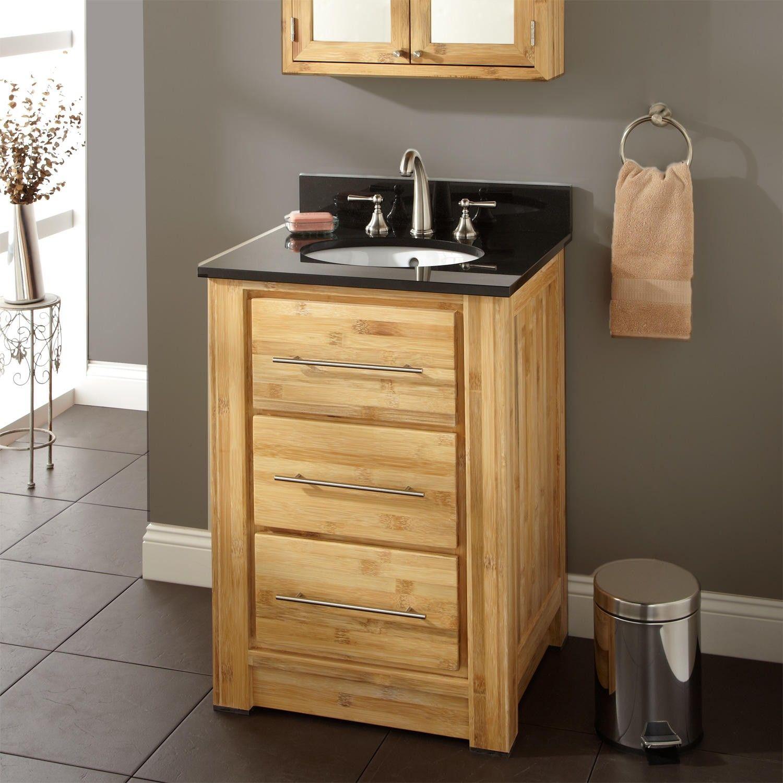 24 Venica Bamboo Vanity For Undermount Sink Bathroom Furniture Vanity Bathroom