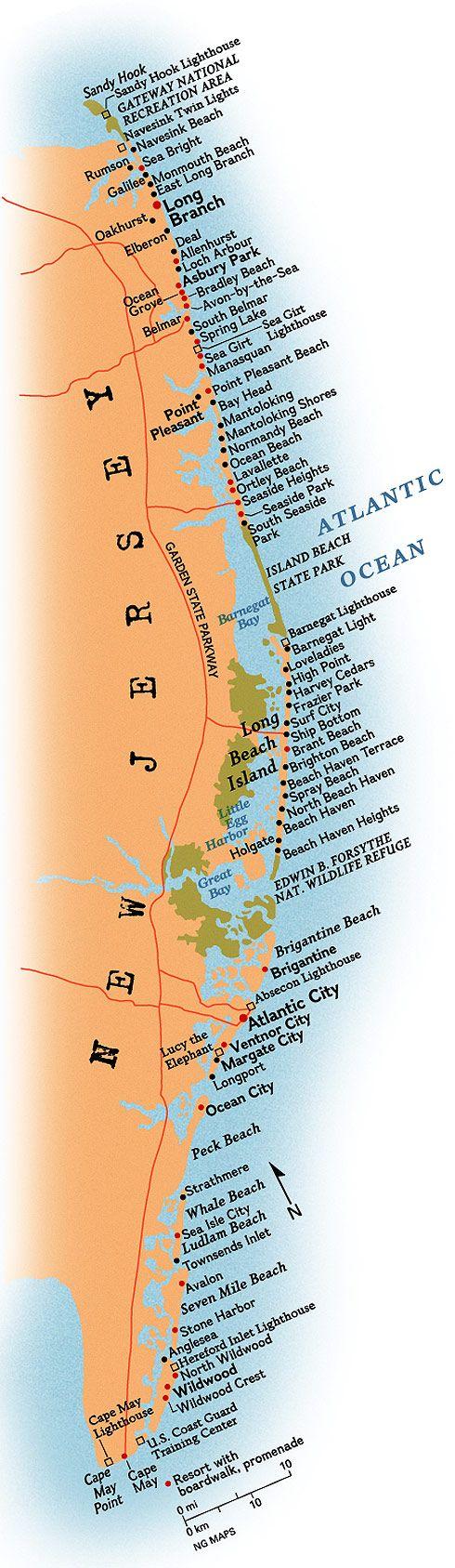 Map Of Jersey Shore Towns : jersey, shore, towns, Jersey, Beach, Weddings,, Weddings, Beaches,, Shore,, Wildwood