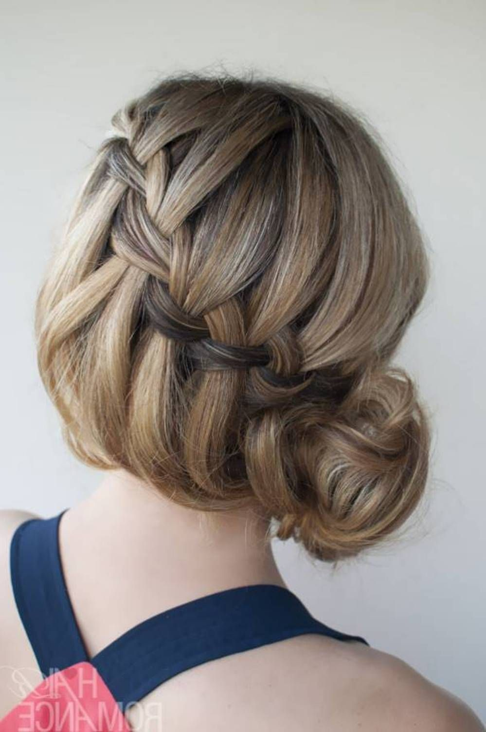 Waterfall braid bun cute hairdos with braids hair art pinterest