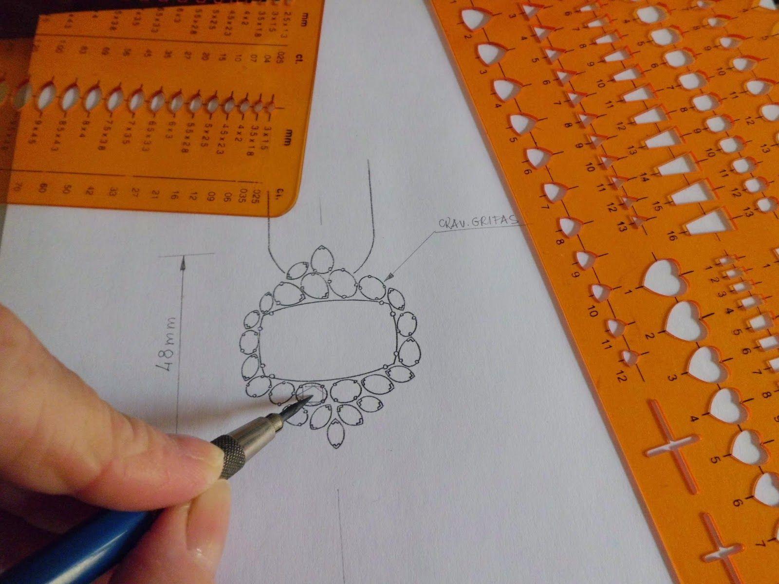 Populares Desenhando Joias: Formação em Design de Joias à Distância  XW32