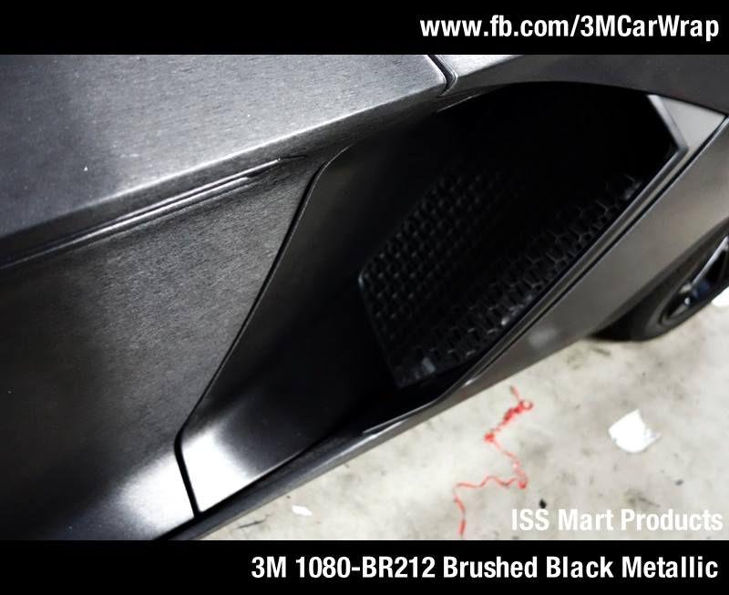 Lamborghini Aventador With 3m 1080 Br212 Brushed Black Metallic In Singapore Issmart Paintisdead Car Wrap Black Metallic Brushed Black