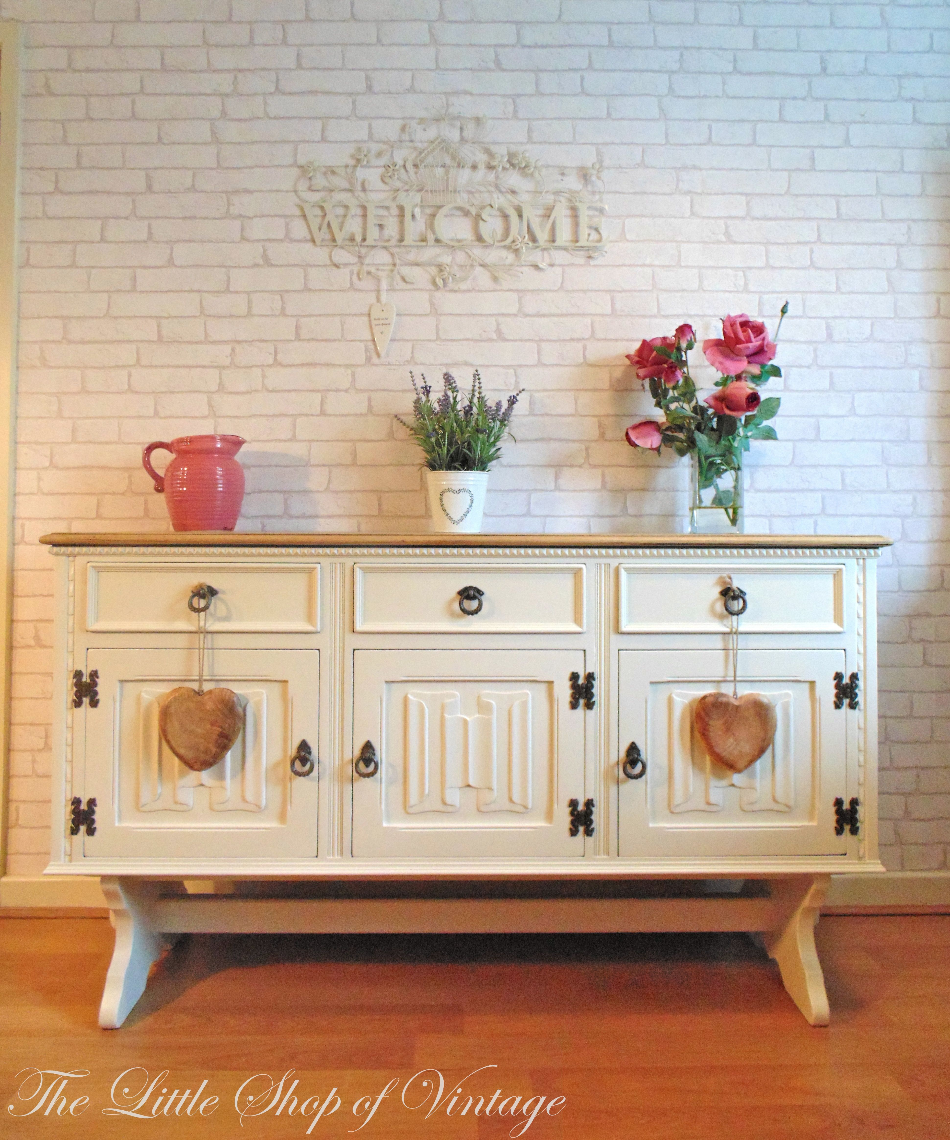 Beautiful Old Charm Sideboard Painted In Farrow Ball Clunch With - 6 beautiful diy shabby chic dressers and sideboards