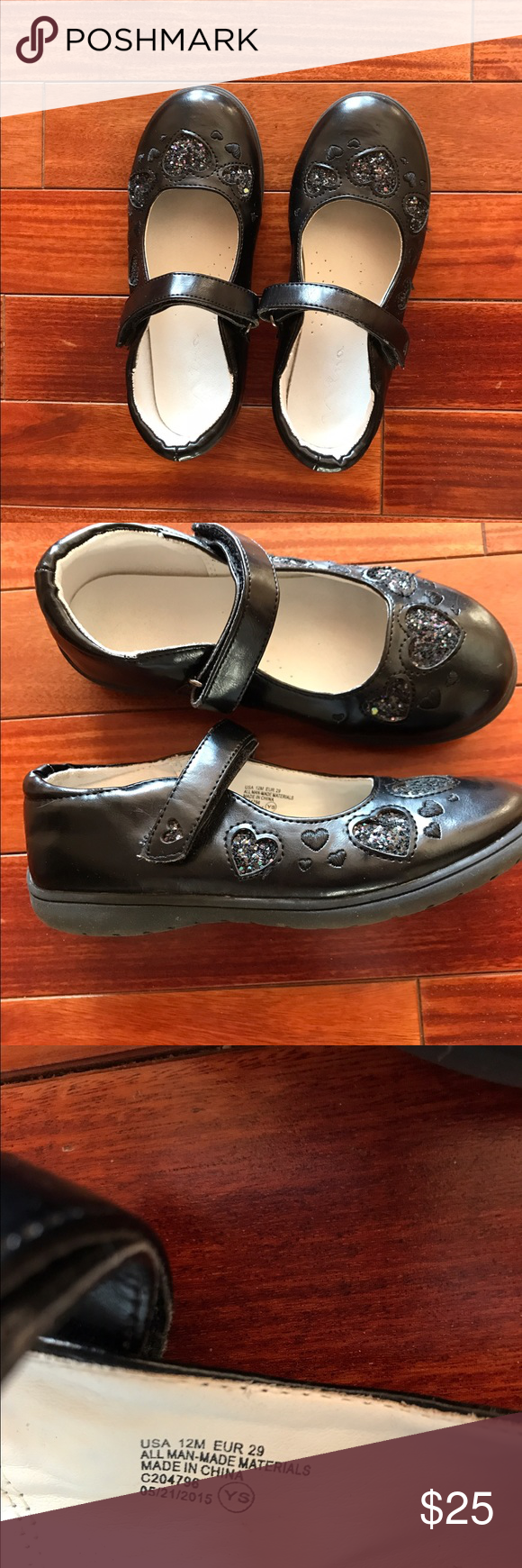 Girls Mary Jane's Nearly brand new. Only worn a couple times.  Cute Mary Jane style shoes with velcro strap for easy wear. Very durable, great quality shoe by Nina. Nina Shoes