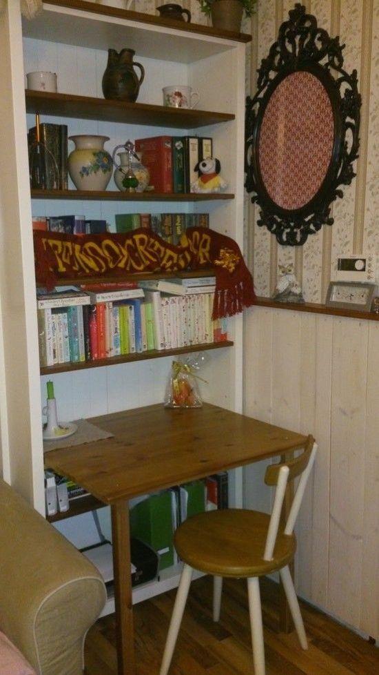 desk in a bookcase ikea hacks pinterest bookcase desk ikea rh pinterest ca