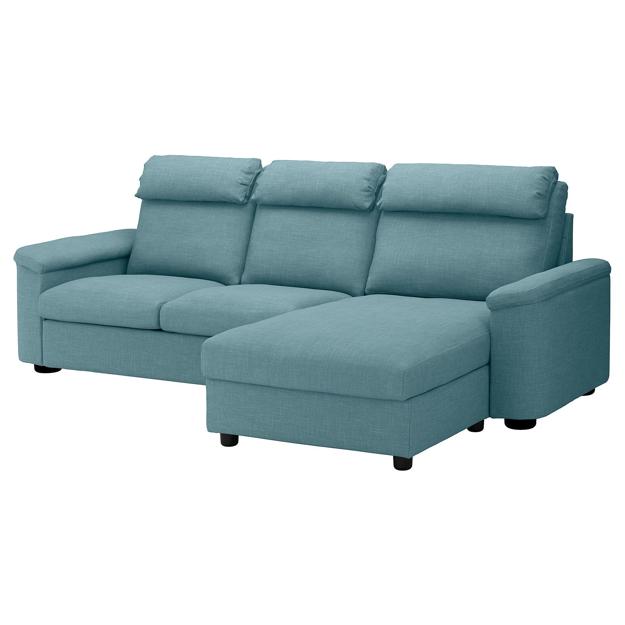 Lidhult 3er Sofa Mit Recamiere Gassebol Blau Grau Ikea Deutschland Sofa Back Cushions Sleeper Sofa Chaise