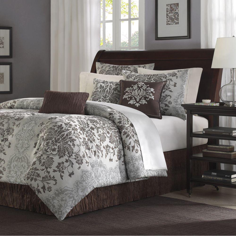 Madison Park Carrington 7 Piece Jacquard Comforter Set in