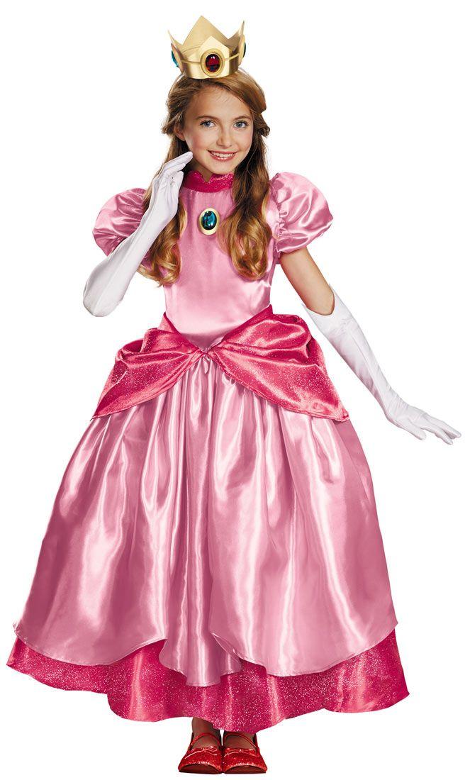 Prestige Princess Peach Girls Costume Costume Craze Halloween