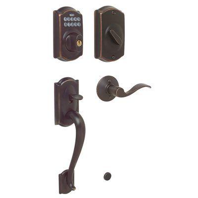 Schlage 2988 Camelot Accent Keypad Residential Single Cylinder Electronic Door Handleset Lowes Canada Schlage Front Door Hardware Door Handle Sets