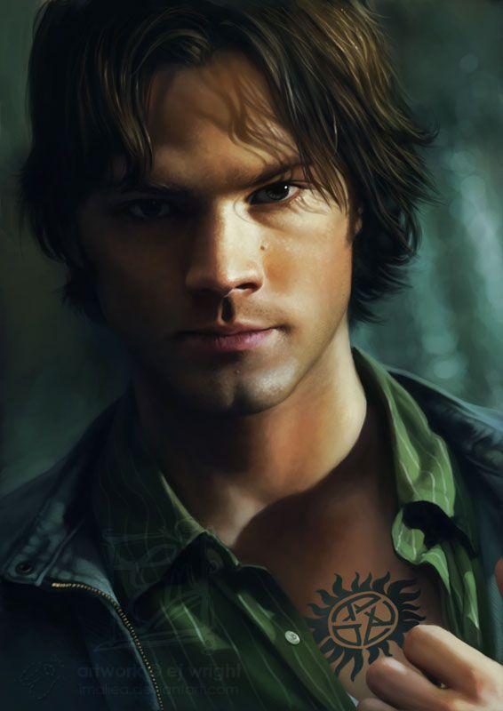 A Man With a Reason by *Imaliea on deviantART (Sam Winchester, Jared Padalecki, Supernatural Fanart)