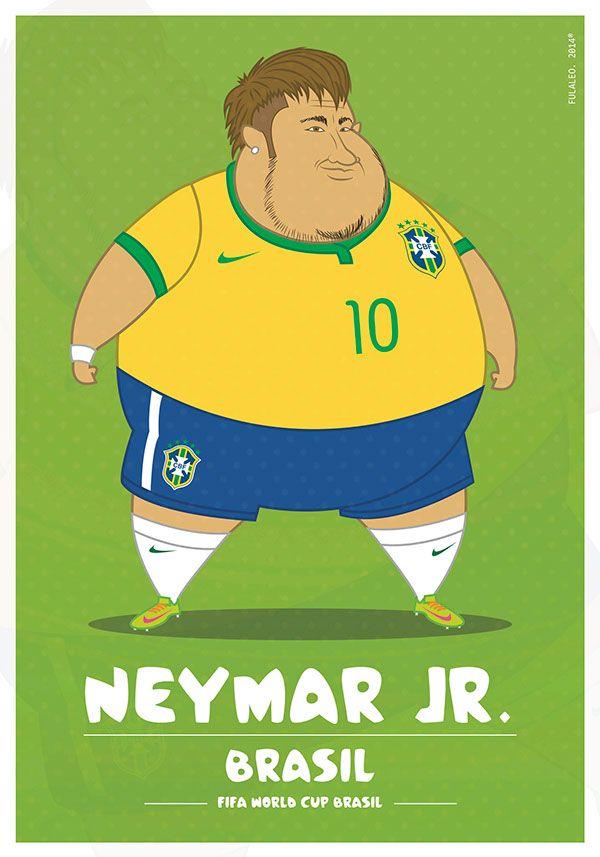 parodias futbolistas gordos neymar Parodias de futbolistas gordos por Fulvio Obregon de Colombia