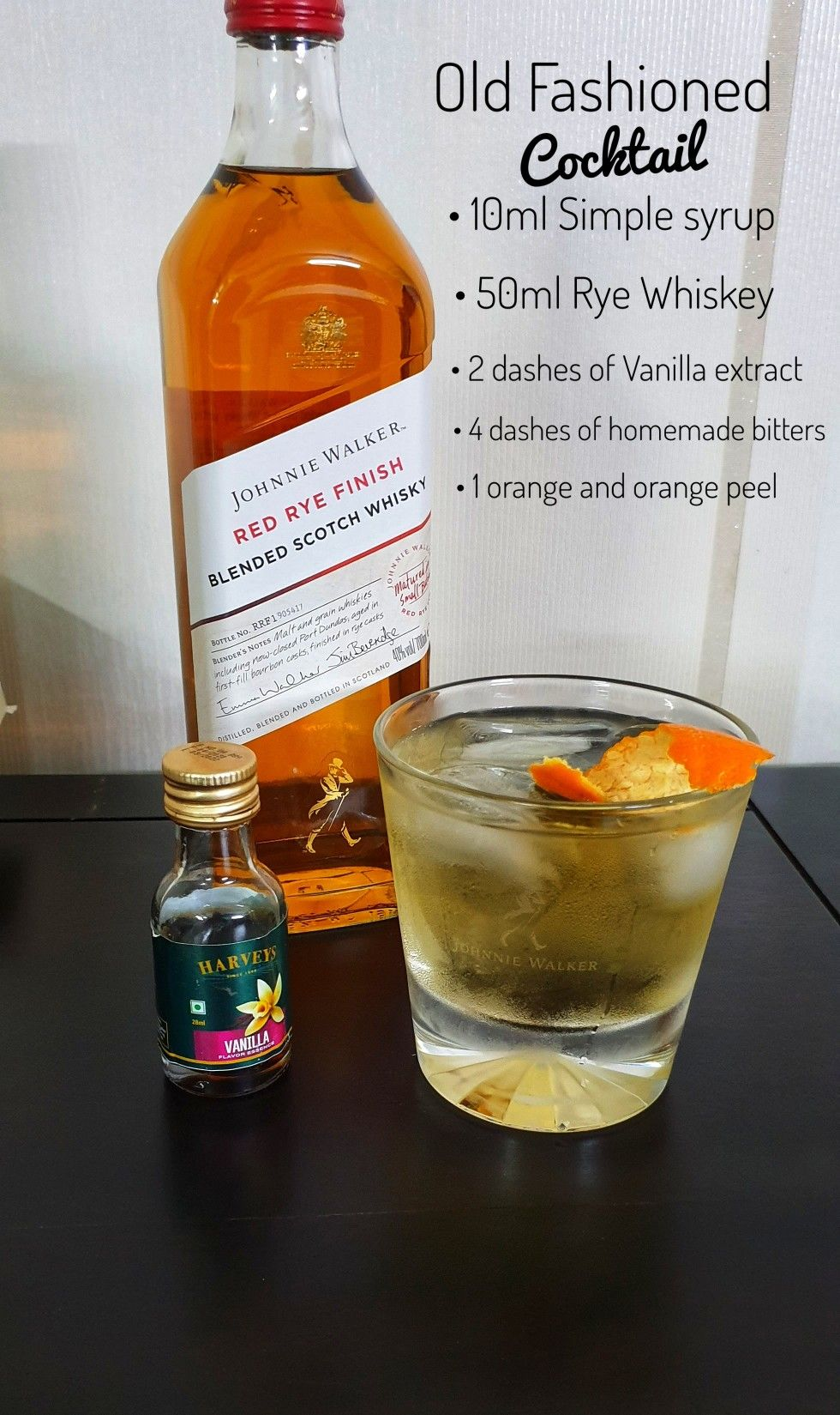 Made this delicious old fashioned cocktail from johnnie walker red rye whiskey. #redryewhiskey #johnniewalker #scotchscentuary