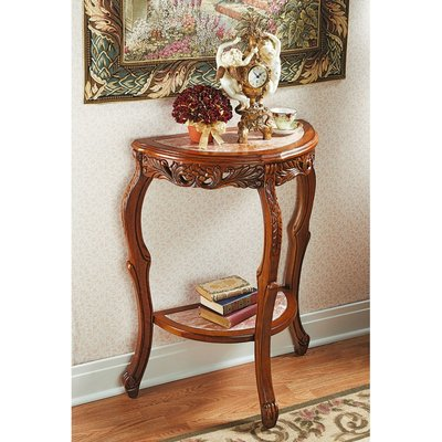 Design Toscano Lady Juliet S Marble Topped Console Table