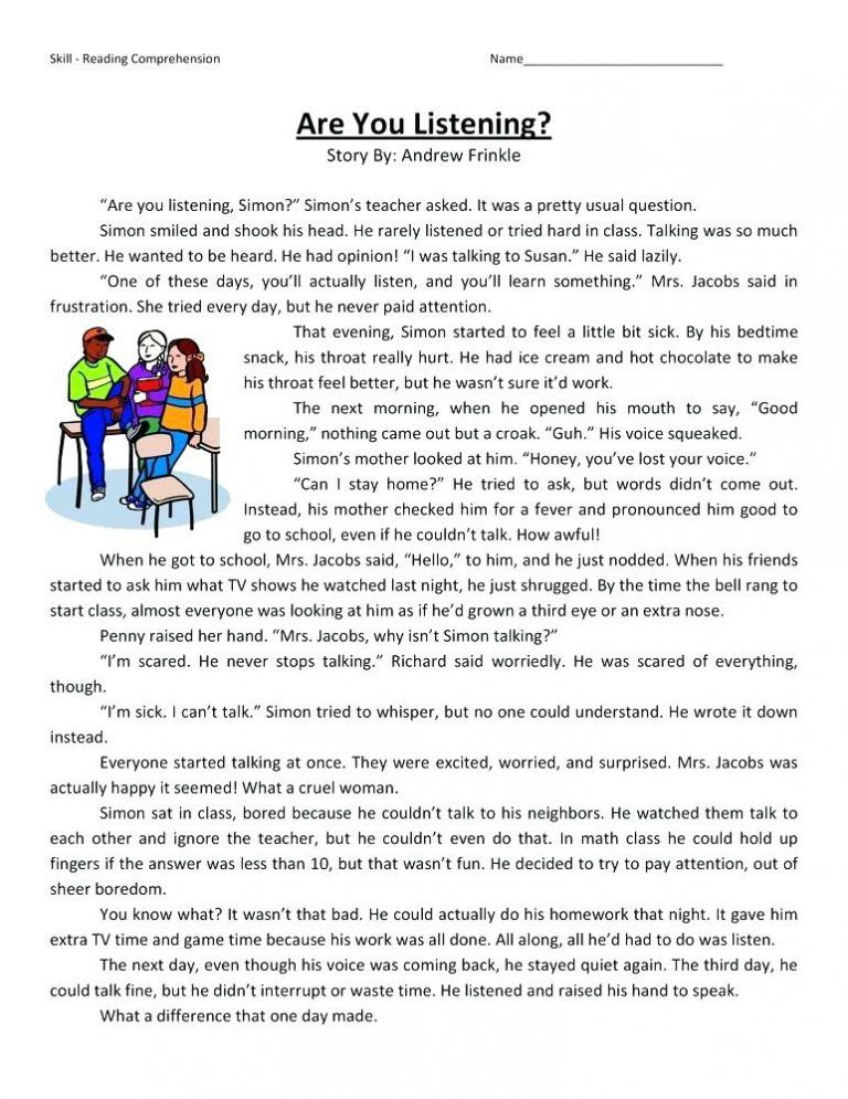 4th Grade Reading Comprehension Worksheets With Images Reading