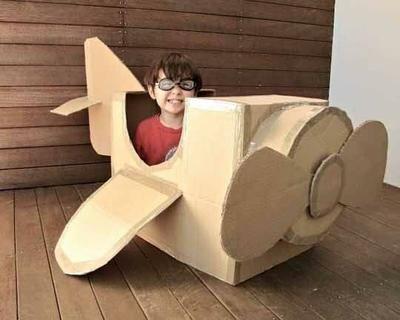 Ideas hacer juguetes reciclando cajas de cartón