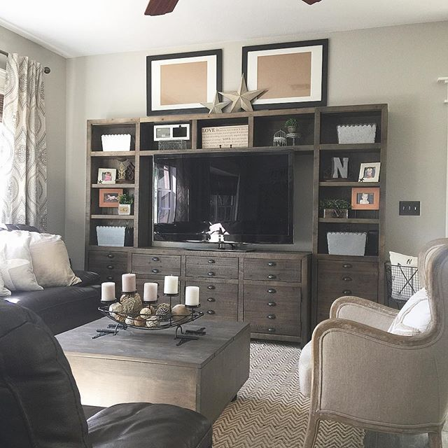 Loving Our New Entertainment Center We Bought It From Ashley S Furniture Because Why Would I Buy From Living Room Design Decor Diy Entertainment Center Home