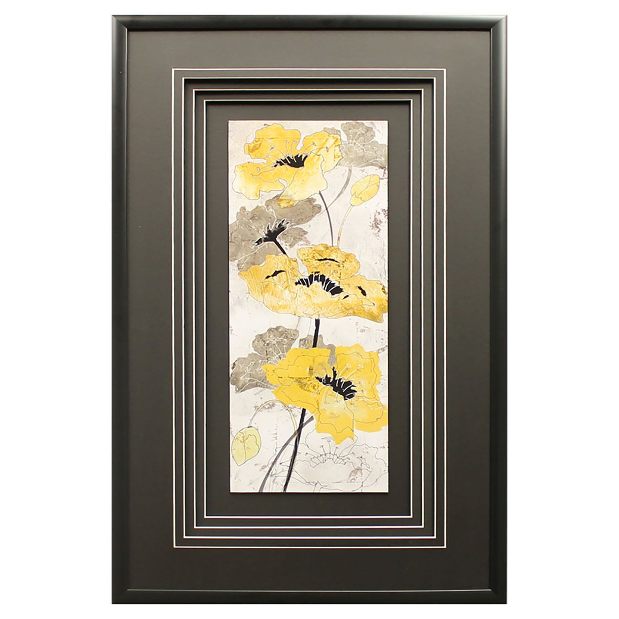 18 X 30-in Yellow Poppy Quad Studio Art - At Home | New bed ...